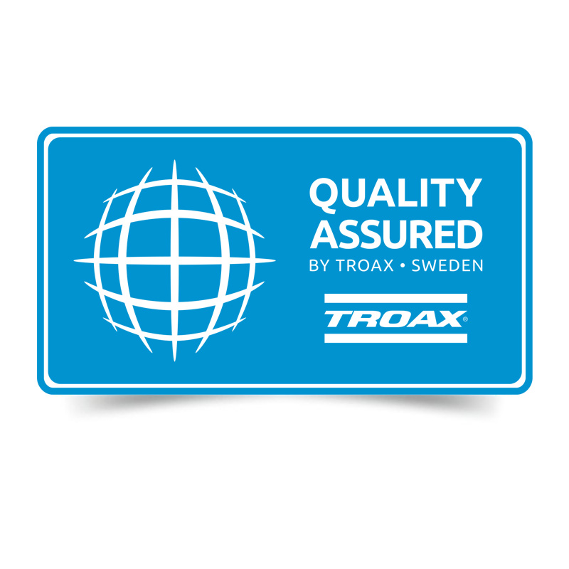 Troax quality symbol, Quality Assured.