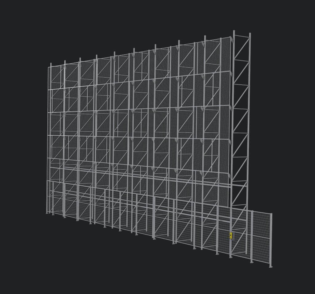 Troax Automated Warehouse Panel Structure