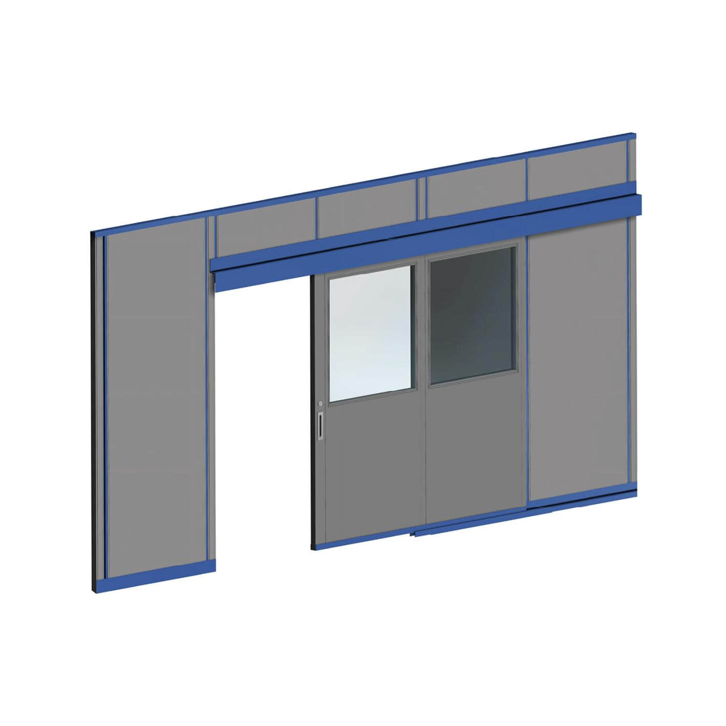 Commercial partitioning, Elan sliding doors