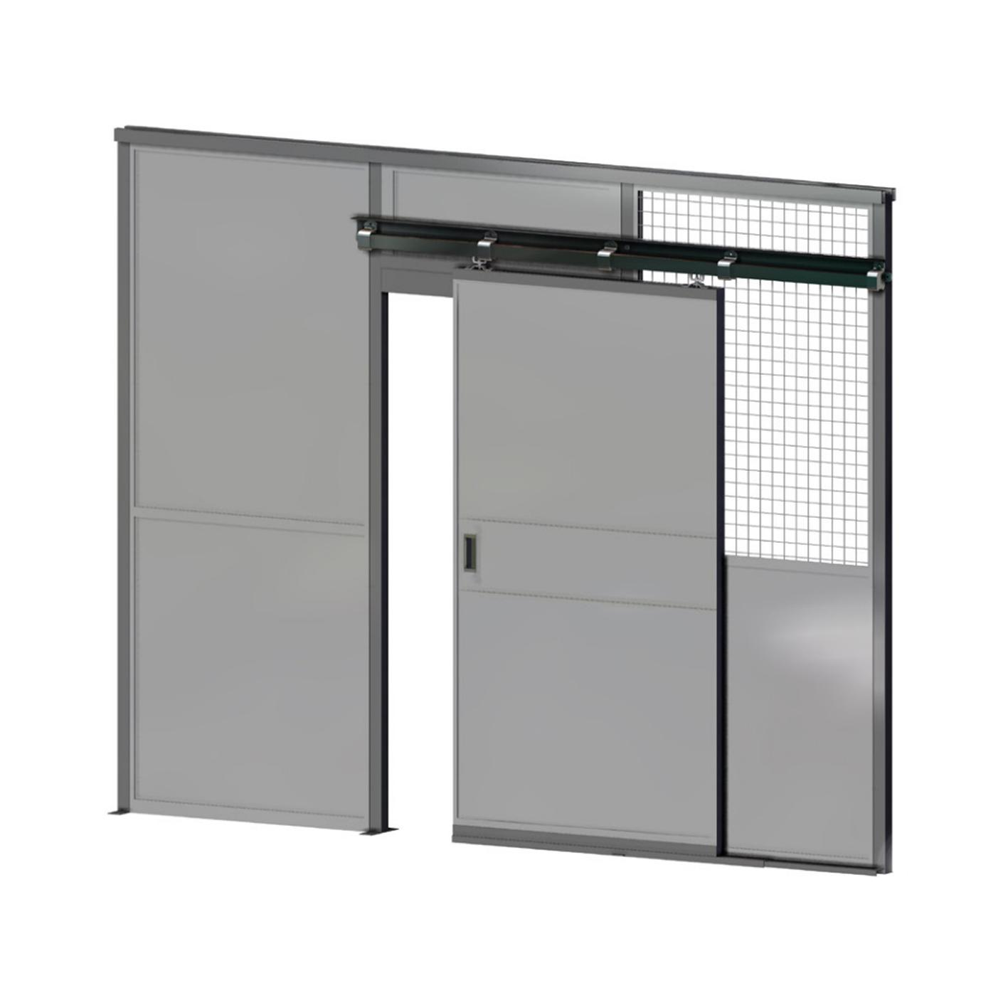 Commercial partitioning, Sliding doors