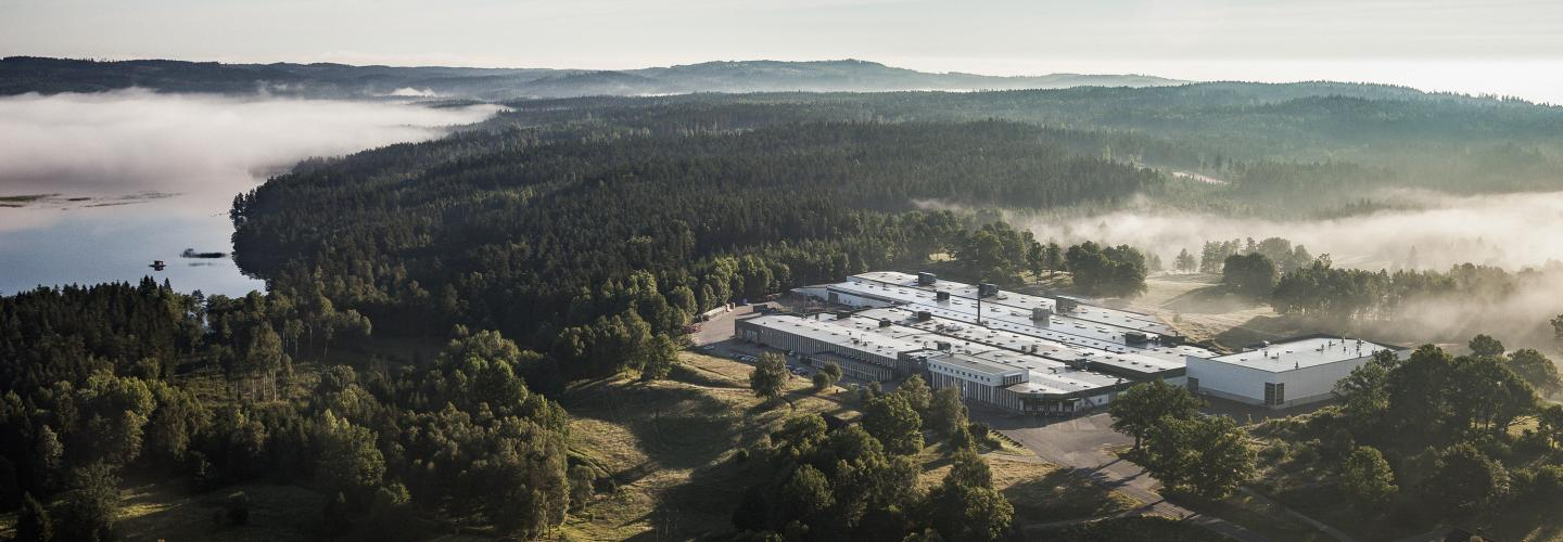 Troax production facility in Hillerstorp, Sweden