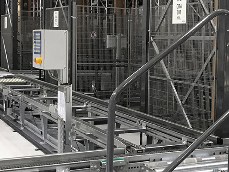 Troax safety solutions at an automated warehouse.