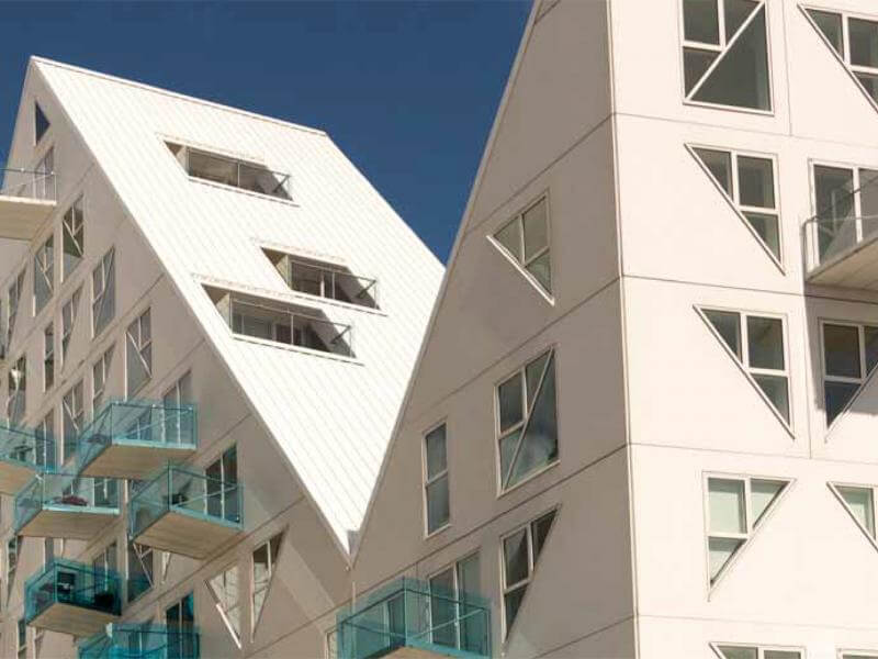 Aarhus, The Iceberg is a residential block made up of 200 apartments.